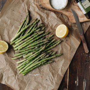 VE DAy Asparagus Lemon Salt Truffle Oil Paper Bag Brown