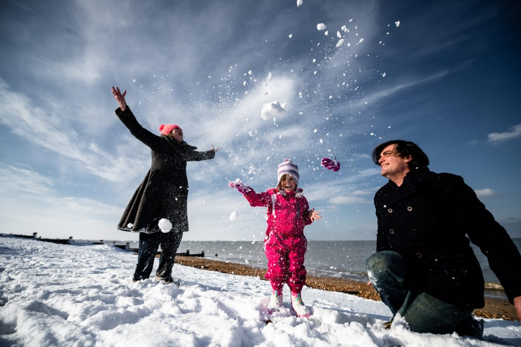 Snow Whitstable Beach Valentine Seasater