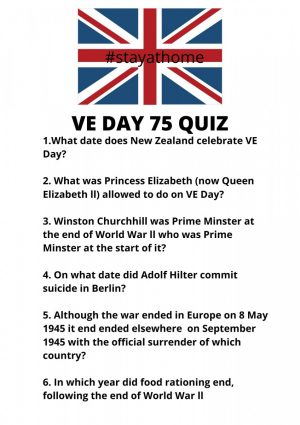 VE DAy Quiz Stay At Home