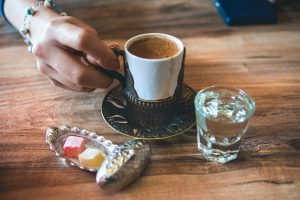 Turkish Delight and coffee- a winning combination
